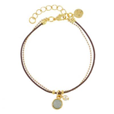 """Armband """"Mint&Grey Mist"""", in gold und silber, 14€"""