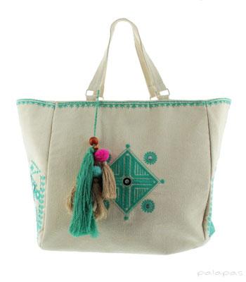 "Strandbag ""Tulum"", türkis, 54,95€"