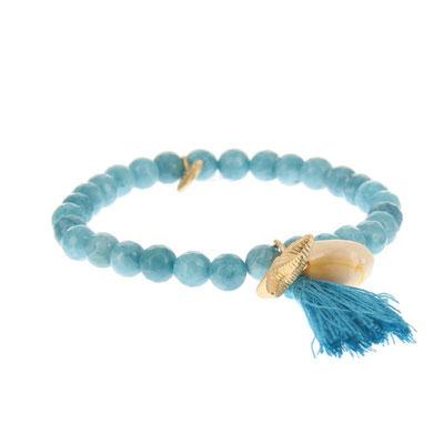 """Armband """" Meeresrauschen"""" jeansblau 14€"""