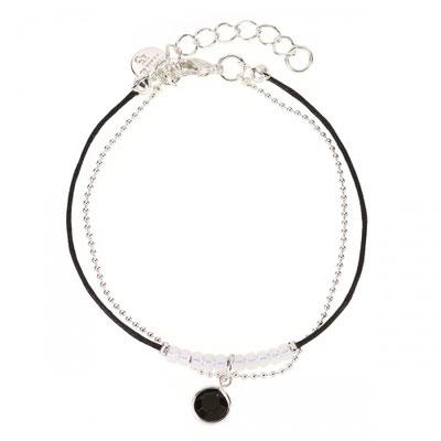 Bracelet Sparkel black/silver 14€