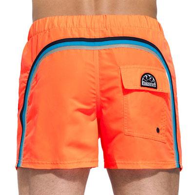 """Sundek Short """"Fluo Orange"""", Länge 13'', in Gr M 95€,"""