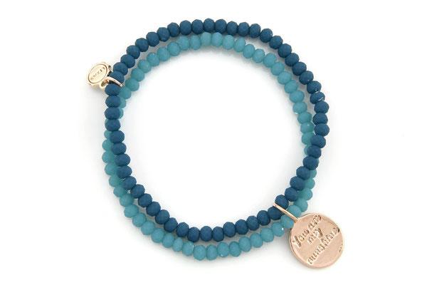 "Armband ""You are my Sunshine"", blue 16€"