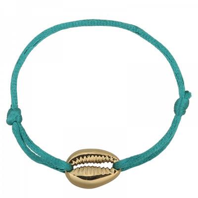 "Armband ""Seashell"" gold türkis 12€ on SALE 9€"