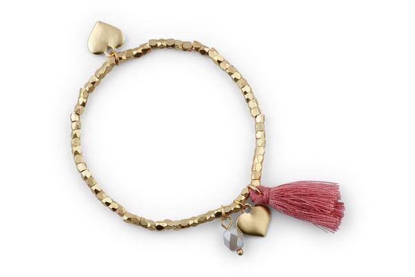 "Armband ""Herzilein"", terracotta, 14€"