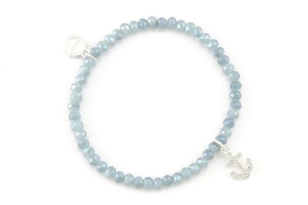 """Armband """"Diamond Anchor"""", light blue 16€"""