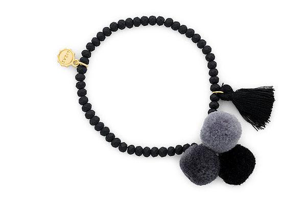 "Armband ""Triple Pom Pom"" black 16€"