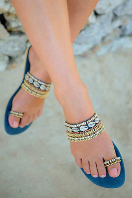 "Sandals ""Koniki"", blue, in Gr 37/38   89€"