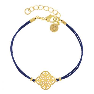 """Armband """"Baroque Flower"""" blue in gold und silber, 14€"""