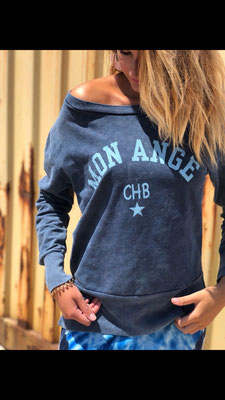 "Sweater "" Mon Ange"", 100% Cotton, one size, blue  44,90€"