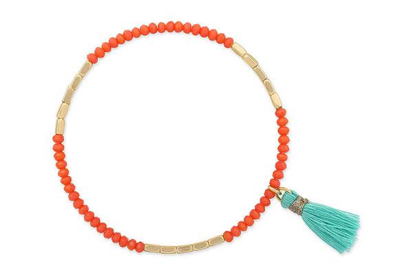 """Armband """"Incredible India"""", orange/turquoise/gold, 14€"""