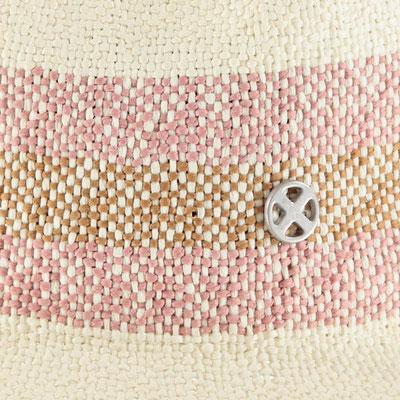 """Hut """"Ocean"""", white/soft pink, 100% Paper, mit Band größenverstellbar,   39,95€"""