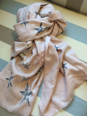 Sternschal soft pink, 80% Cotton, 20% Cashmere 29€