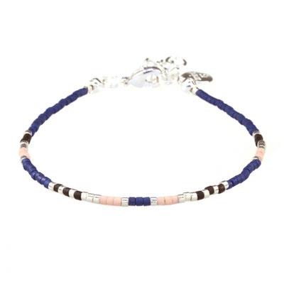 "Bracelet "" Delicate"" navyblue silber 12€"