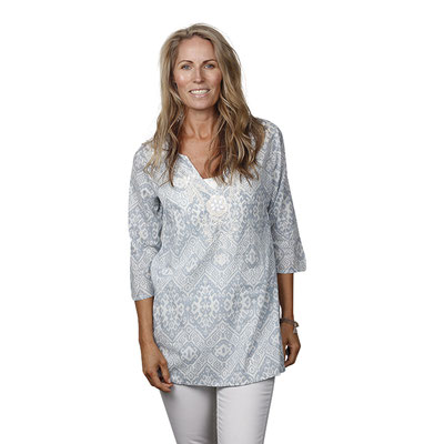 Tunika Valerie, 100% Cotton, light blue, Gr S/M/L(out of stock)/XL  79,90€