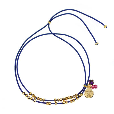 """Bracelet """"Collect the Stars"""" navy blue in silber od rosegold 14€"""