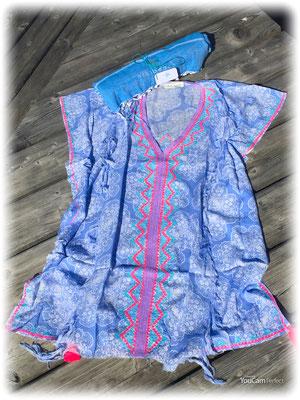 Dress Ethnique  Print blue 85€