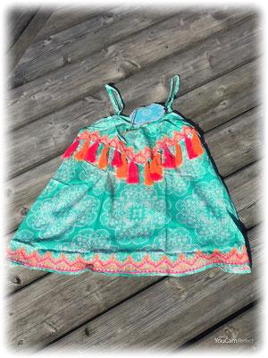 Dress Pom Pom Kids Print Mint 65€
