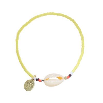 """Armband """"Seashell"""" soft yellow 14€"""