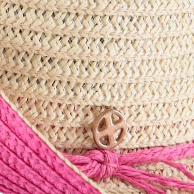 """Hut """"St Tropez"""", white/pink, 100% Paper, mit Hutband größenverstellbar,   29,95€"""