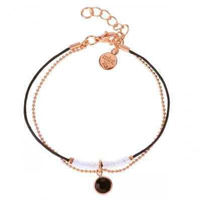 Bracelet Sparkel black/rose gold 14€