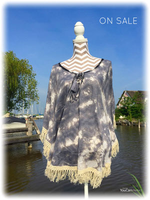 Poncho Bali, grey oder navy,one size  44€ / -40%