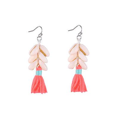 "Ohrringe ""Happy Shells"" coral  18€"