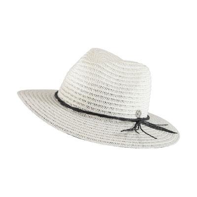 """Hut """"St Tropez"""", white/back, 100% Paper, mit Hutband verstellbar, 29,95€"""