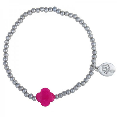 """Armband """"One More"""" silver pink 12€"""