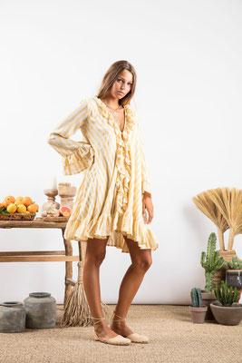 Dress Jasper, portofino yellow , 60% Baumwolle, 30% Viskose, 10% Lurex, in Gr XS/S und M/L,  149€