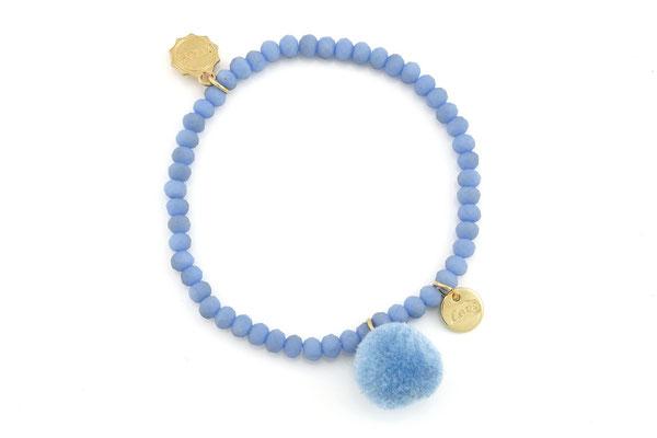 """Armband """"Single Pom Pom"""", blue, 14€"""