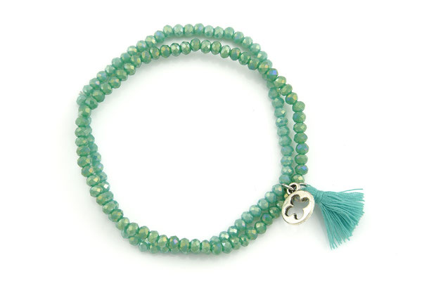 """Armband """"Doubletree"""", seagreen, 16€"""