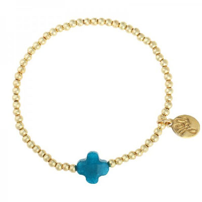 """Armband """"One More"""" gold türkis 12€"""