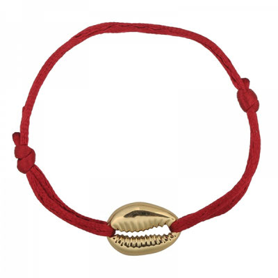 """Armband """"Seashell"""" gold red 12€ on SALE 9€"""