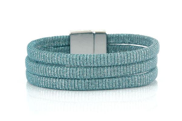 "Armband "" Triple"" lightblue/silver, 22€"