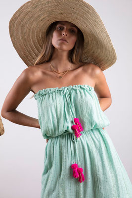 Dress Anoushka, aqua, 100% Viskose gefüttert, in Gr XS/S und M/L,  109€