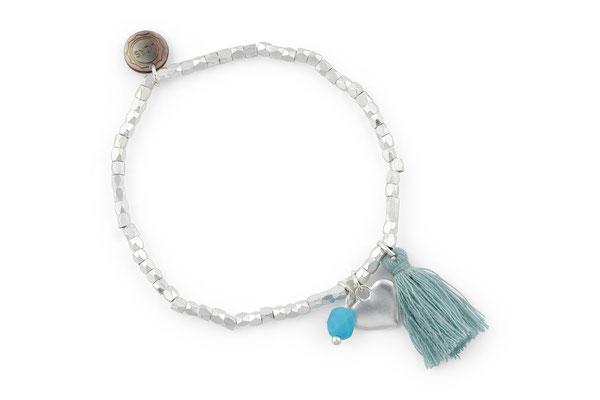 "Armband ""Herzilein"", türkis, 14€"