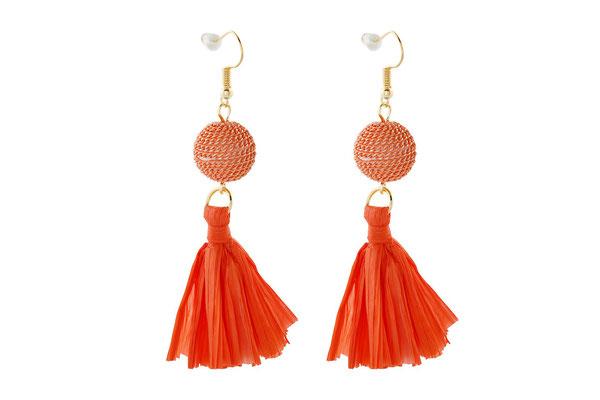 "Ohrringe ""Mohnblume"" orange, 18€"