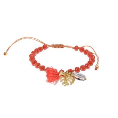 "Armband ""Dschungle Leaf""coral, gold oder silber, 14€"