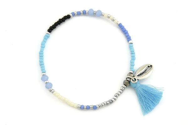 """Armband """"Muschelbank"""", blue, 14€"""