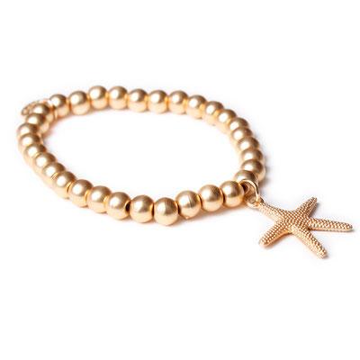 """Armband """"Seastar"""" gold mattiert, 19€"""