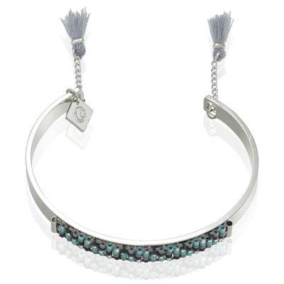Armreifen Ibiza Evening silver blue black 22€