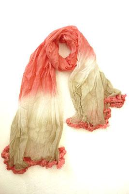 Schal Batik coral/beige 27€