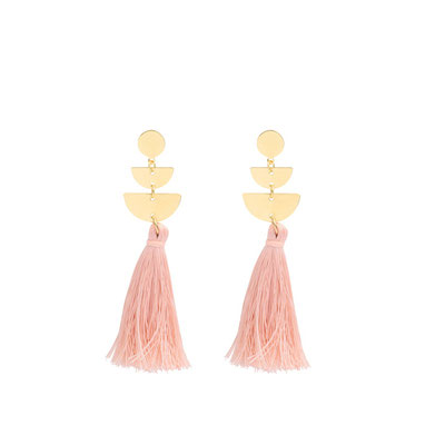 """Ohrringe """"Tulum"""" soft pink, 19€"""