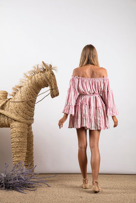 Dress Sylvia, portofino pink, 60% Baumwolle 30% Viskose 10% Lurex, one size,  119€