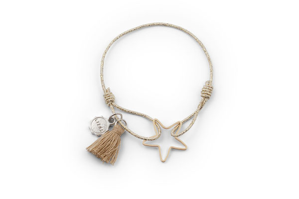 """Armband """"Be my Star"""", gold, 12€"""