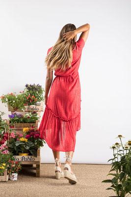 Dress Romane, red, 100% Viskose gefüttert, in Gr XS/S und M/L,  139€