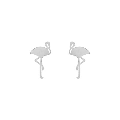 "Ohrringe ""Flamingo"" silver 15€"