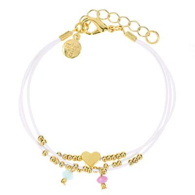 "Armband ""Triple White"" silber od rosegold 16€"