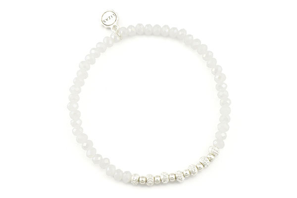 """Armband """" Magical Night"""" white/silver 12€"""