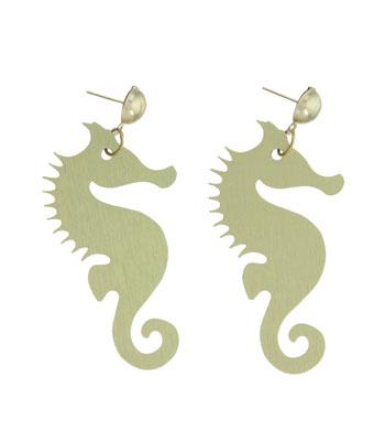 """Ohrringe """"Seahorse"""", metall, 18€"""